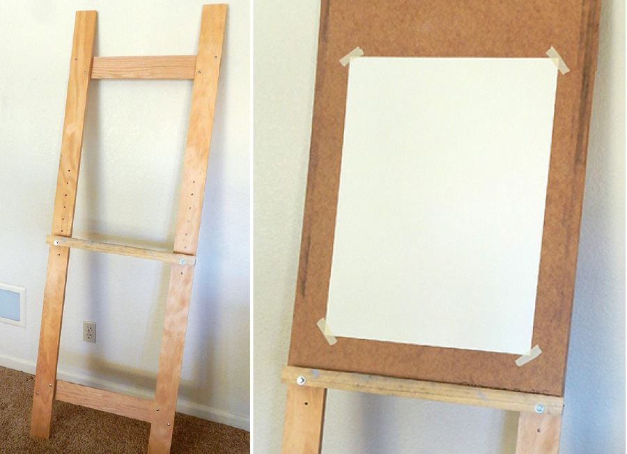 How to Build a Simple Leaning Easel | Deviche Designs