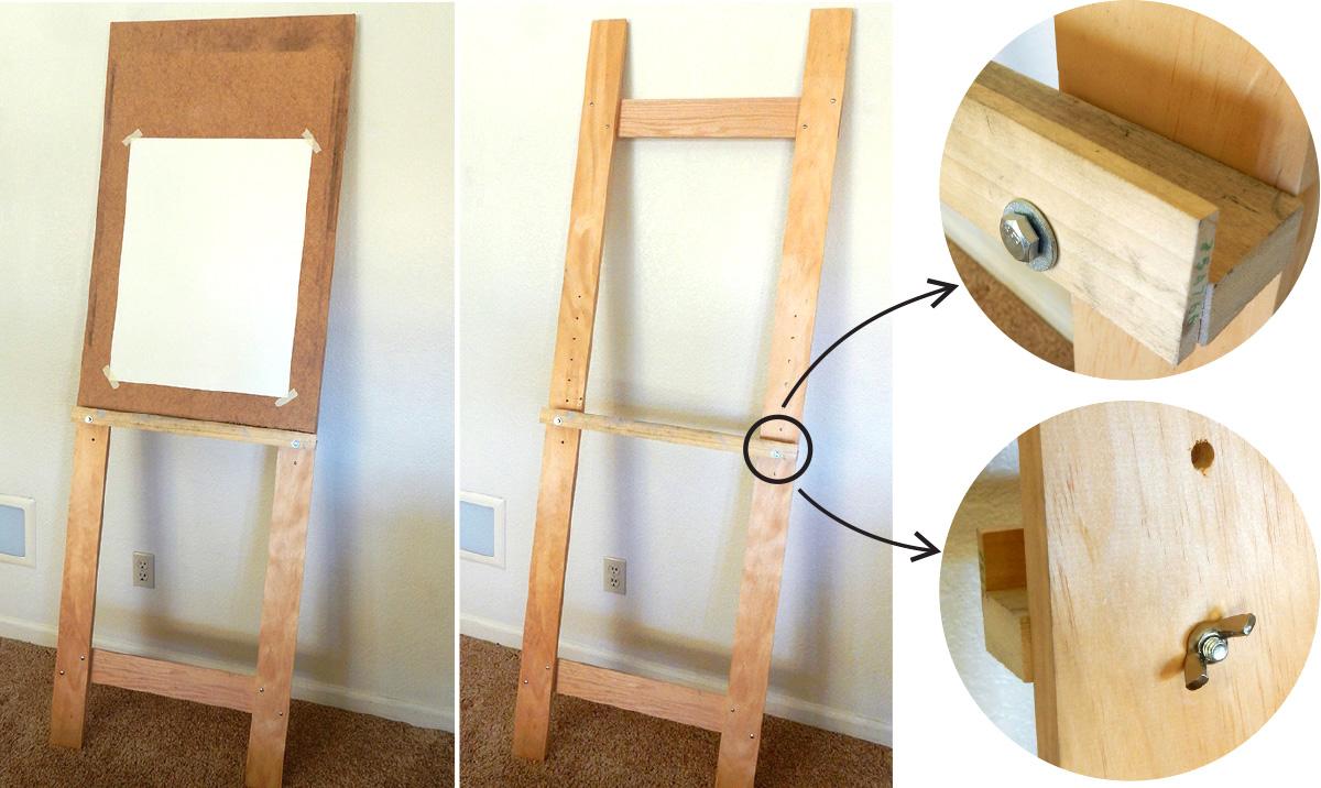 comment construire un chevalet simple deviche designs. Black Bedroom Furniture Sets. Home Design Ideas