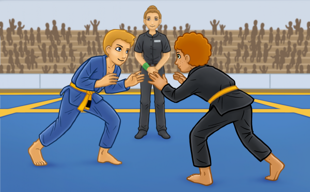 BJJ: The Rules of the Game, illustration for front cover