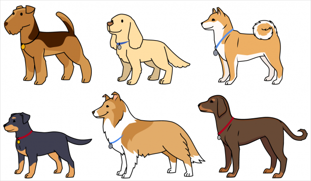 Fun Science Toons, some of the dog characters