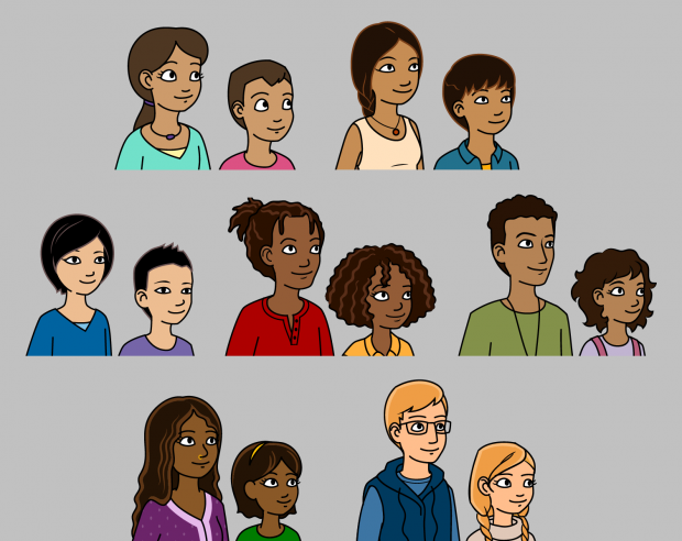 Fun Science Toons, the 14 main characters