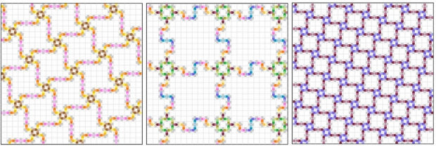 Nano Building: Examples of some of the more complex repeating patterns possible