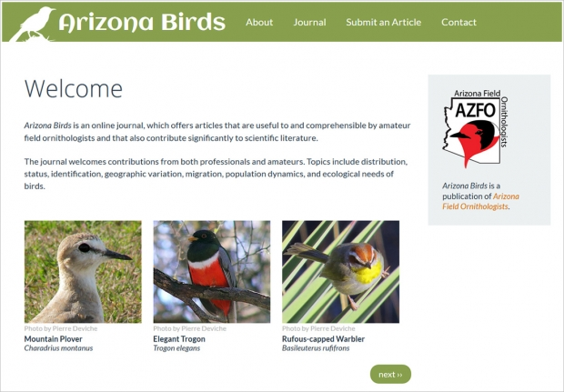 Arizona Birds Homepage