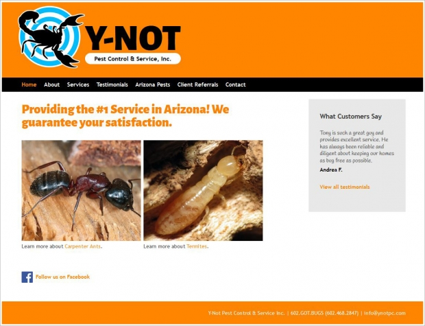 Y-Not Pest Control: Home page