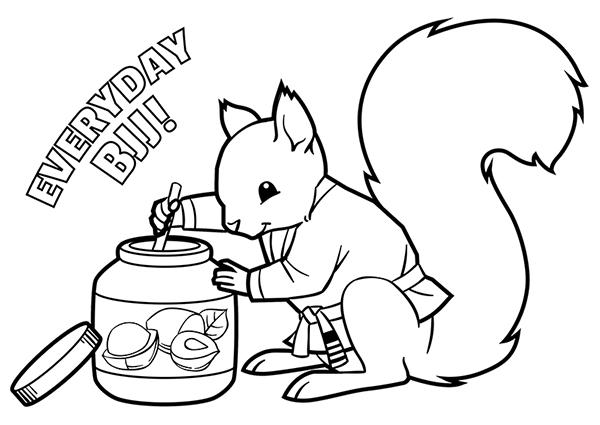 BJJ Squirrel Snacking