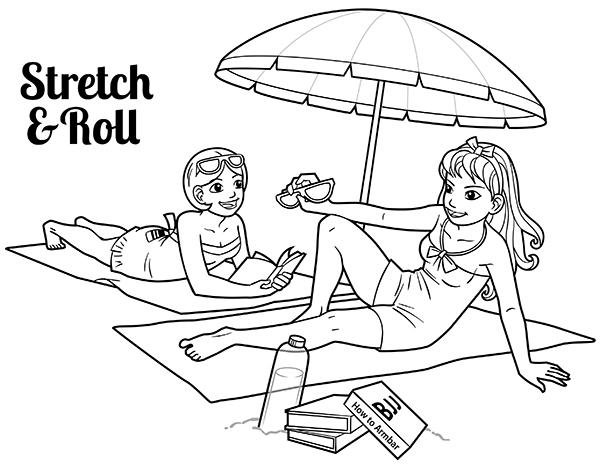 Ladies at the beach training