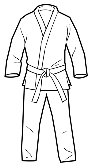 Brazilian Jiu-jitsu: Gi Coloring Page Activity