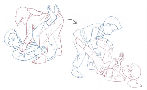 BJJ: The Rules of the Game, technique sketch