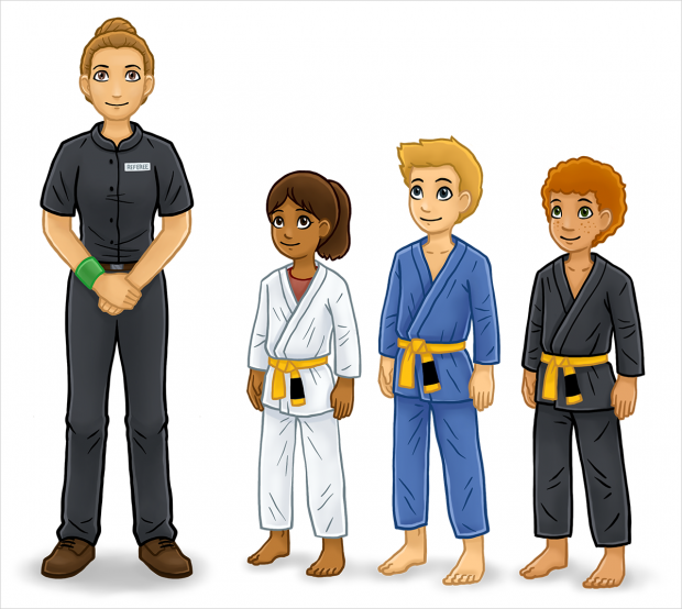 BJJ: The Rules of the Game, main characters