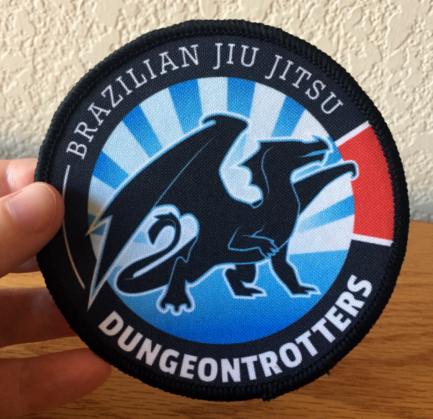 BJJ Dungeontrotters printed player patch, 10cm in diameter