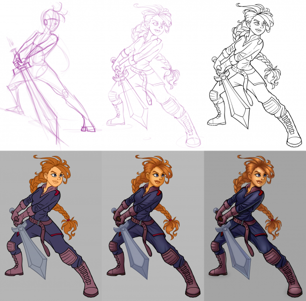 Stages of the drawing process