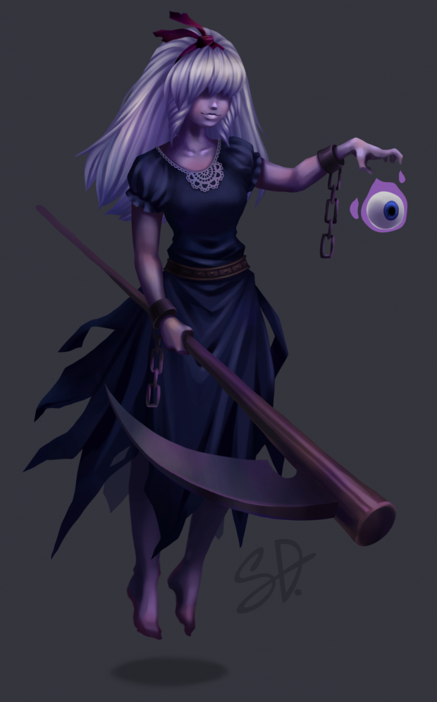 Digital painting of ghost character