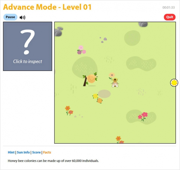 The Way of the Waggle Dance, game screen