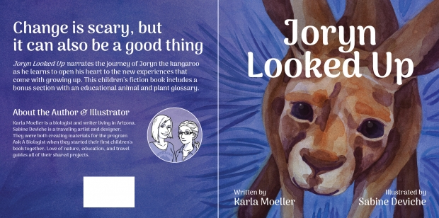Joryn Looked Up: Back cover, front cover