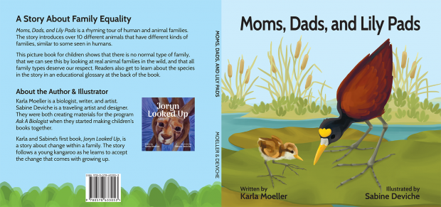 Moms, Dads, and Lily Pads: Back cover, front cover