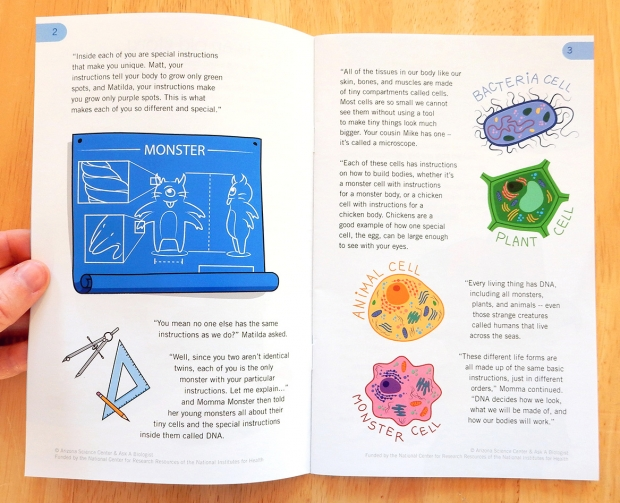 Monster Story inside page.