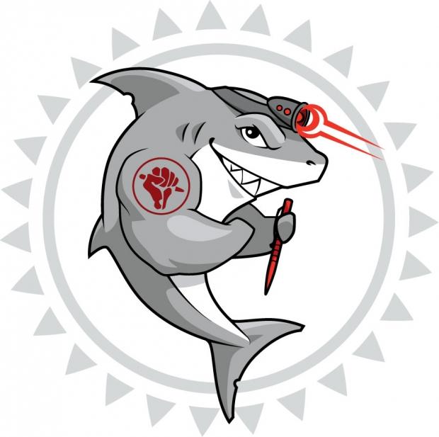 <em>Tuff-Writer</em>: Shark mascot